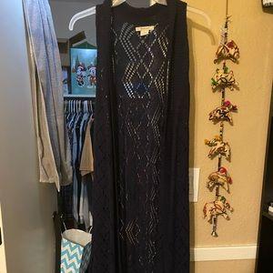 COPY - Ariat Long Sleeveless Kimono/Vest